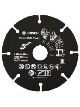 Disco universale per smerigliatrice Bosch in carburo, 115 mm