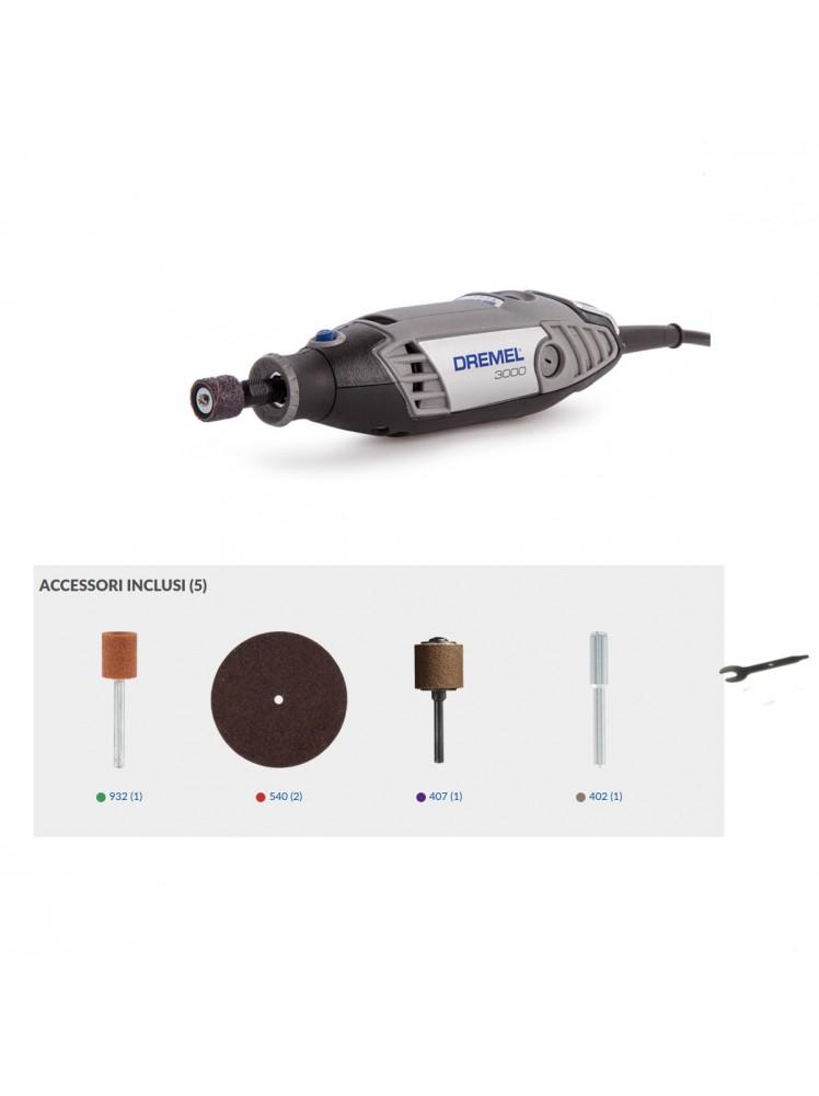 Kit multifunzione Dremel 3000 5  accessori F0133000JW