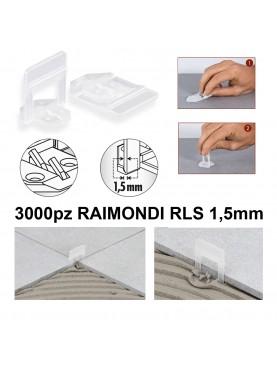 BASETTA AUTOLIVELLANTE 3D RLS 1,5 mm. RAIMONDI, Confezione 3000 Pezzi